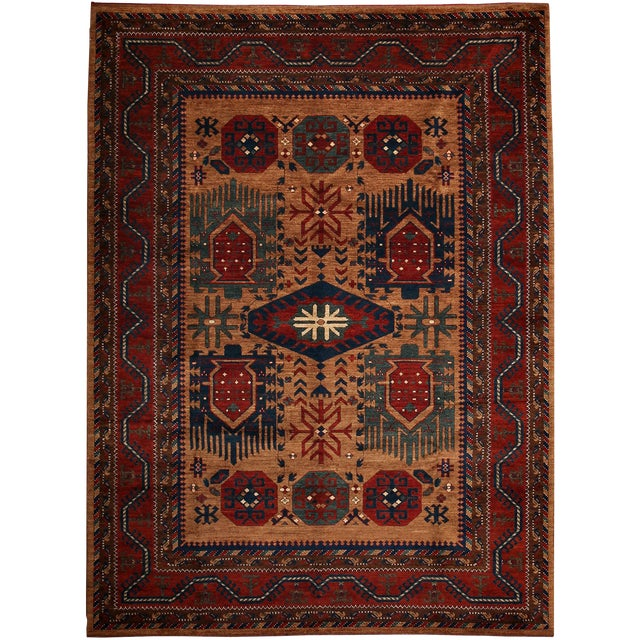 "Khyber Hand Knotted Area Rug - 7'4"" x 10'1"" For Sale"