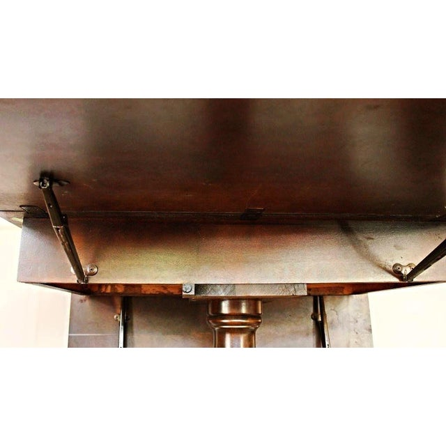 Mahogany Drop Leaf Claw Foot Table For Sale - Image 5 of 7
