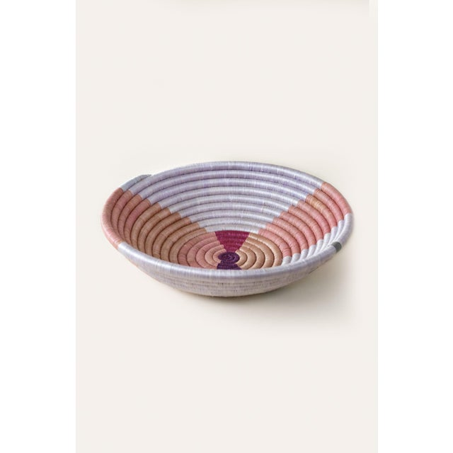 Contemporary Indego Africa Handwoven Heather Shape Plateau Basket For Sale - Image 3 of 4