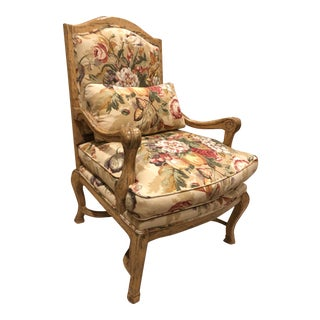 Custom Bausman Bergere Chair For Sale