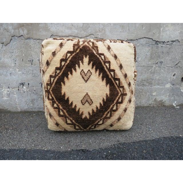 Vintage Moroccan Floor Pillow - Image 2 of 4