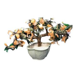 Mid 20th Century Vintage Jade Bonsai Tree For Sale