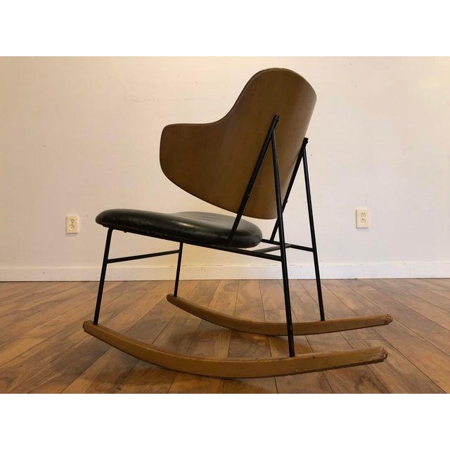 Vintage Kofod Larsen Penguin Rocking Chair For Sale In Seattle - Image 6 of 12