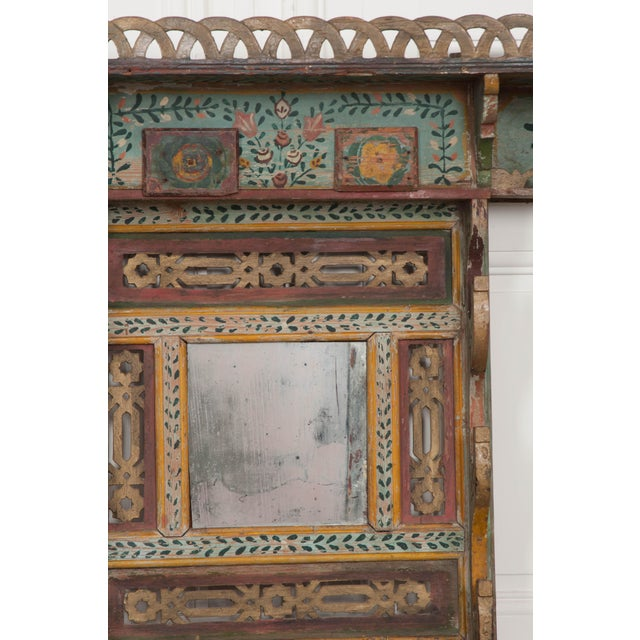 Austrian Early 19th Century Hand-Painted Pine Wall Mounted Coat Rack For Sale - Image 12 of 13