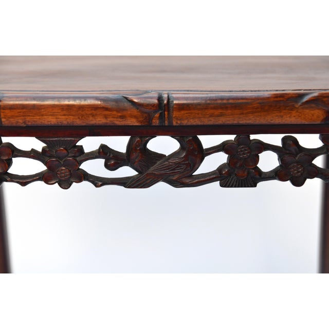 Rosewood Chinese Side Table Qing Dynasty 19th C For Sale - Image 7 of 10