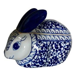 Blue & White Bunny Box
