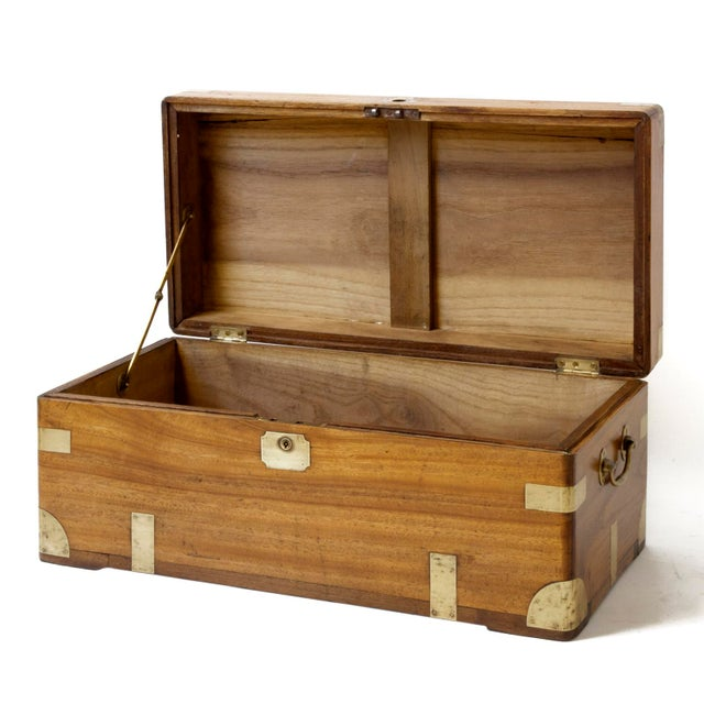 Asian Antique Chinese Small Camphor Wood Chest For Sale - Image 3 of 9