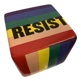 Resist Contemporary Ceramic Wall Cube For Sale