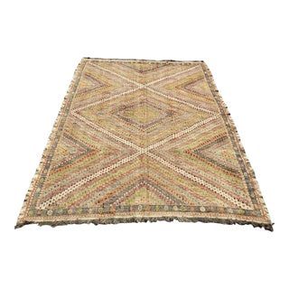 Vintage Pale Kilim Rug For Sale