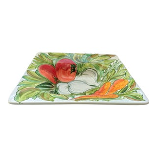 Vietri Tuscan Vegetable Platter - Hand Painted For Sale