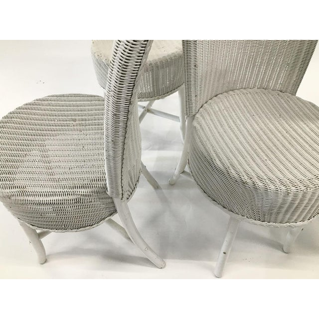 1950s Woven Lloyd Loom Chairs — Set of 4 For Sale - Image 9 of 12