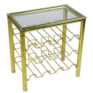 Modern Brass Wine Rack Table Preview