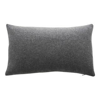 FirmaMenta Italian Gray Sustainable Wool Lumbar Pillow For Sale