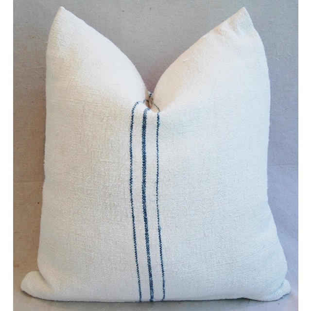 Vintage French Grain Sack Textile Pillows - A Pair - Image 6 of 10