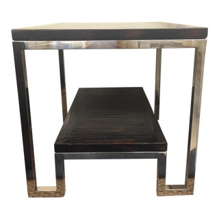 Artistica Modern Metal End Table For Sale