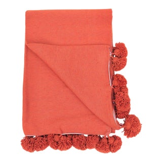 Cotton Pom Pom Blanket For Sale