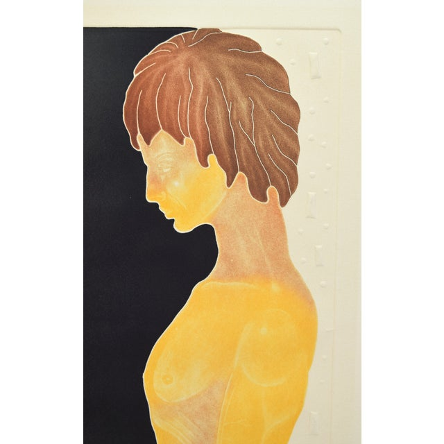"""1970's Mod Limited Edition Lithographs """"Adam"""" & """"Eve"""" Nudes - a Pair For Sale - Image 4 of 13"""