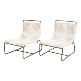 Pair of Walter Lamb Sleigh Chairs For Sale