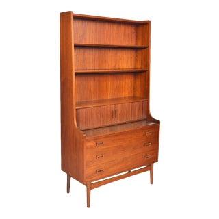 Danish Modern Teak Bookcase by Johannes Sorth for Bornholm For Sale