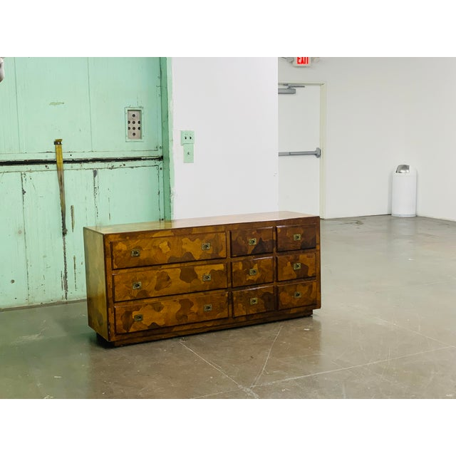 """1960s American of Martinsville """"Mosaics"""" Campaign Style Dresser For Sale In Los Angeles - Image 6 of 10"""