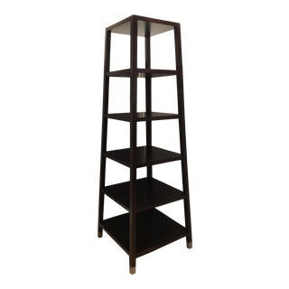 Modern Baker Dark Walnut Finished Etagere For Sale