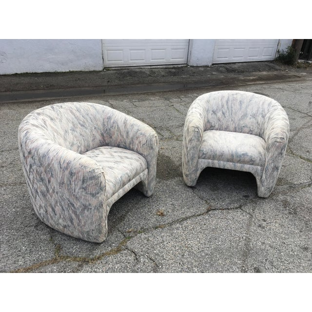 Steve Chase 1980s Vintage Sculptural Steve Chase Lounge Chairs- A Pair For Sale - Image 4 of 13
