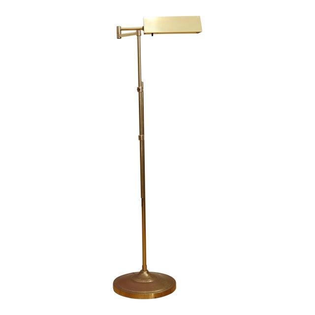 Vintage adjustable brass pharmacy floor lamp chairish vintage adjustable brass pharmacy floor lamp aloadofball Gallery