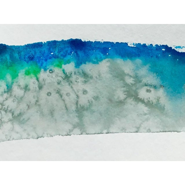 Abstract 'The Dirt Down There' Watercolor Painting For Sale - Image 3 of 3