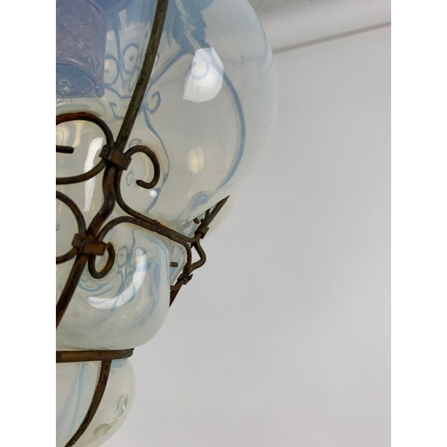 2010s Smoked Glass Single Light Flush Mount Fixture For Sale - Image 5 of 9