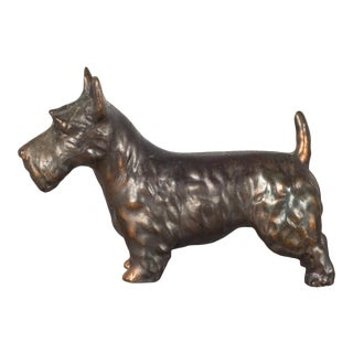 Early 20th C. Bronze Scotty Dogs C.1940-Two Available For Sale