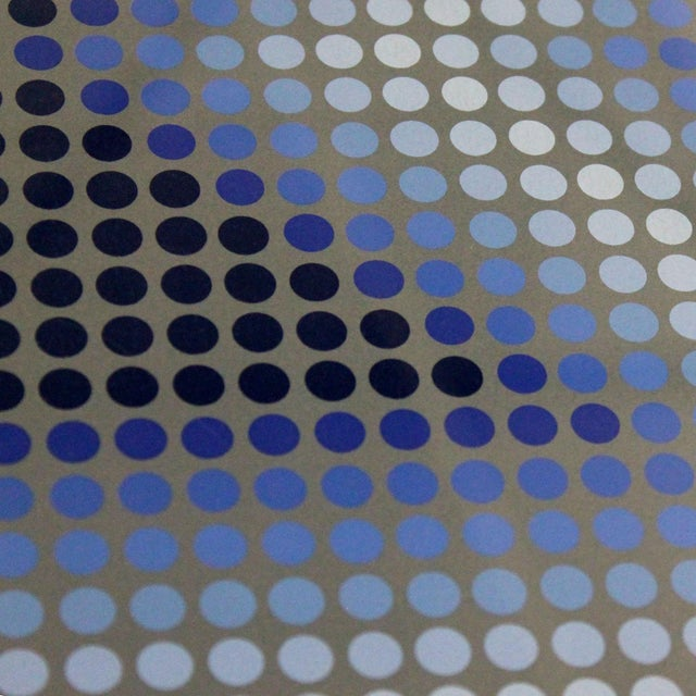 Blue Sembe by Victor Vasarely Serigraph in Color Pencil Signed Numbered For Sale - Image 8 of 9