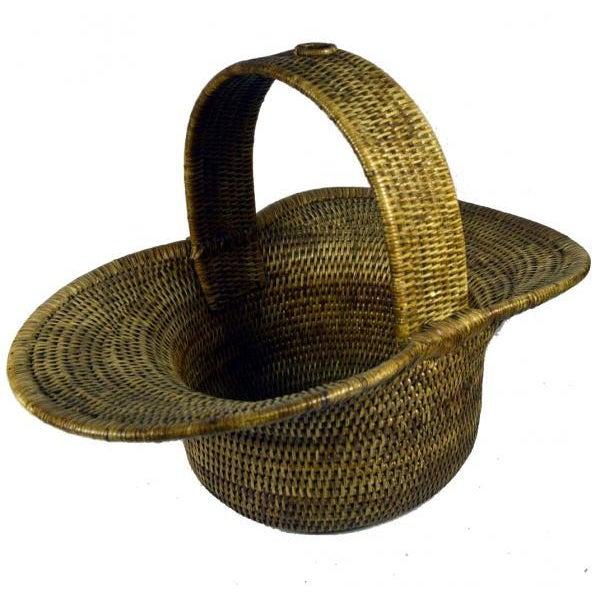Burmese Hand Woven Hat Basket - Image 1 of 10