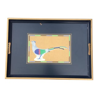 Emmanuel Graphics Lady Crane Peacock Tray
