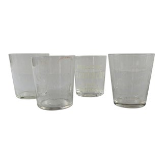 Group of Pre Prohibition Etched Shot Glasses - Set of 4 For Sale