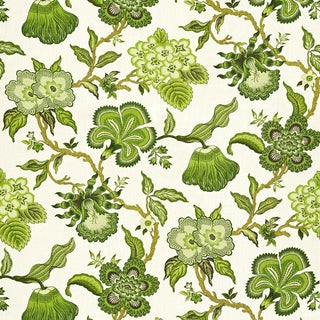 Schumacher X Celerie Kemble Hothouse Flowers Fabric in Verdance