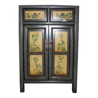 Chinese Blue Painted Cabinet