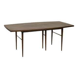 Paul McCobb for Calvin Mid Century Modern Walnut Dining Table w/ 3 Leaves