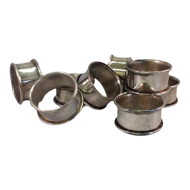 Vintage Silver Plate Napkin Rings - Set of 8 - Image 1 of 4