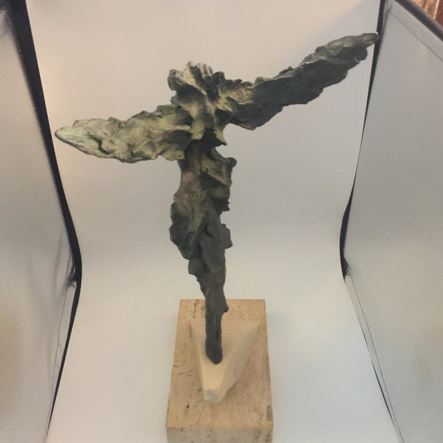 Art Nouveau Josep Bohill Freedom Flying Lady Sculpture For Sale - Image 3 of 9