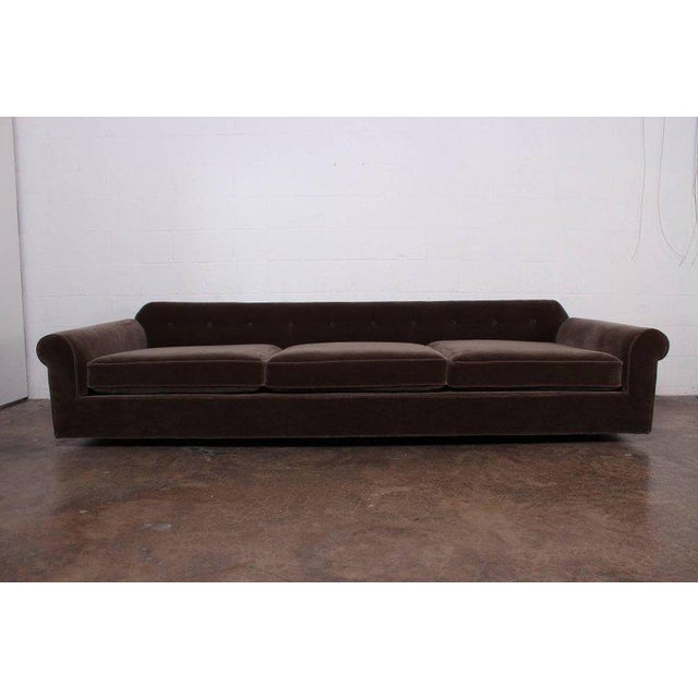 """Big Texan"" Sofa by Edward Wormley for Dunbar in Mohair - Image 6 of 10"