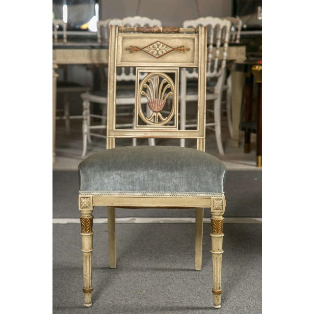 Hollywood Regency Hollywood Regency Side Chairs by Jansen - Set of 6 For Sale - Image 3 of 9