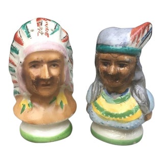 Native American Salt & Pepper Shakers - a Pair For Sale