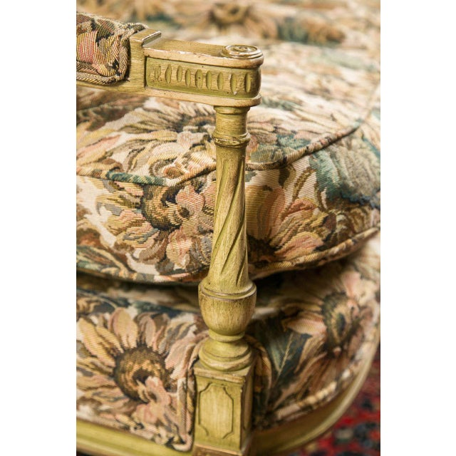 French Louis XVI Style Painted Settee by Jansen - Image 2 of 7