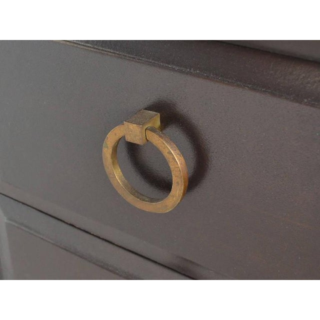 Brass Widdicomb Cabinet with Brass Pulls For Sale - Image 7 of 7