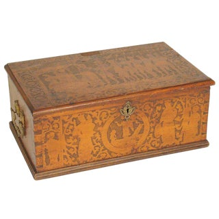 Early 19th Century Antique Wooden Document Box For Sale