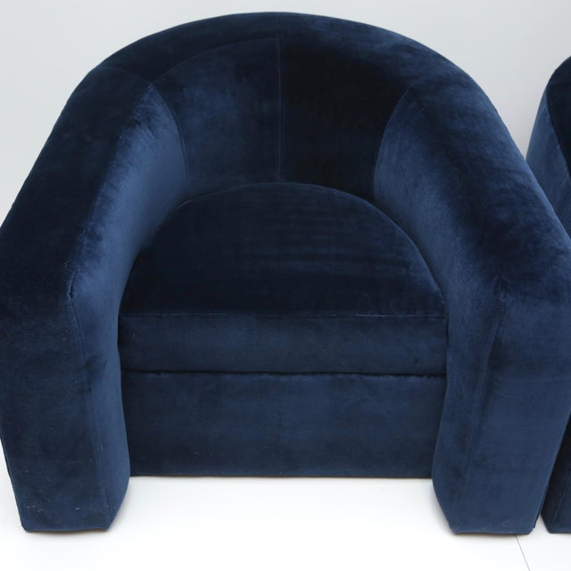 Cotton Pair of Velvet Tub Chairs For Sale - Image 7 of 11