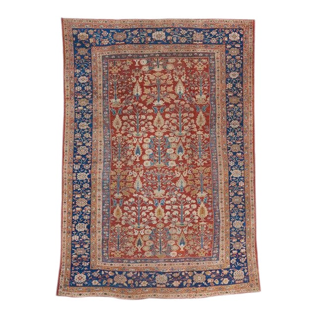 Red Ground Mahal Carpet For Sale