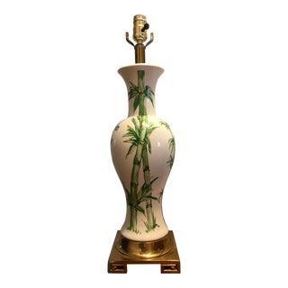 Mid-Century Chinoiserie Bamboo Lamp