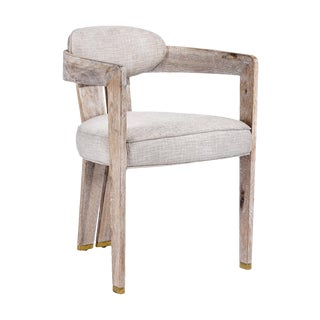 Maryl II Dining Chair - Cream Linen For Sale
