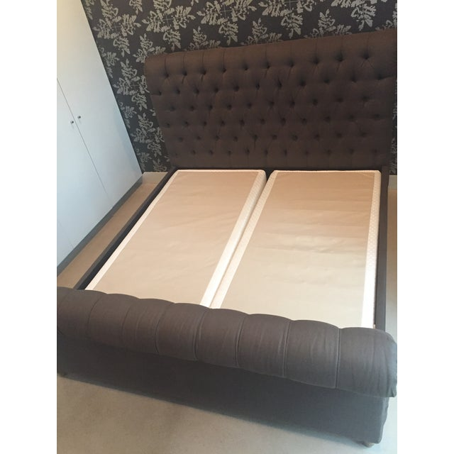 Restoration Hardware King Bed - Image 4 of 9